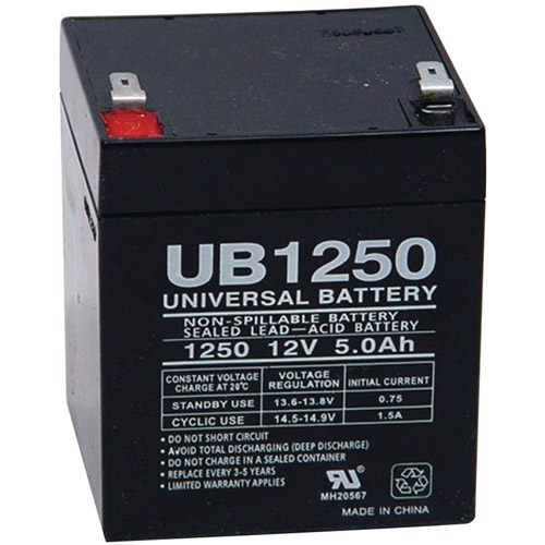 UPG 85983/D5741 Sealed Lead Acid Batteries (12V; 5 AH; .187 Tab Terminals; UB1250)