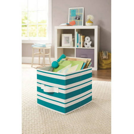 Collapsible fabric storage organizer cube container set of for Better homes and gardens 6 cube organizer