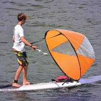 LYUMO Downwind Wind Paddle, PVC Folding Portable Downwind Wind Paddle Popup Board Kayak Sail Kit Sailboat Accessories