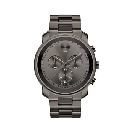 Bold Steel Chronograph Watch - Driver Chronograph Watch