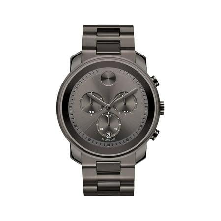 Movado Bold Steel Chronograph Watch -