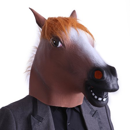 HDE Horse Head Halloween Dress Up Costume Party Latex Mask for $<!---->