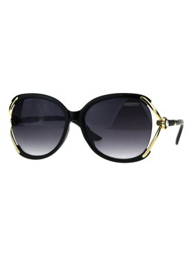 3cd6c339020 Product Image Womens Oversize Floral Rhinestone Bling Butterfly Fashion  Sunglasses Black Smoke