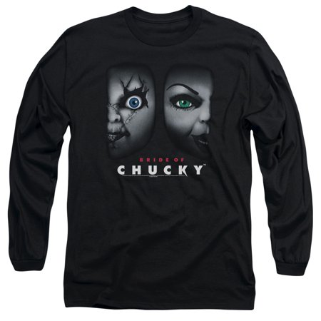 Chucky Stripped Shirt (Bride Of Chucky Horror Comedy Movie Happy Couple Adult Long Sleeve)