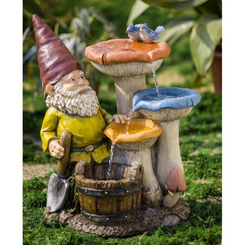 Jeco Gnome Indoor/Outdoor Fountain