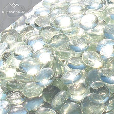 "Image of ""Fire Pit Glass - Crystal Clear Reflective Fire Glass Beads 3/4"""" - Reflective Fire Pit Glass Rocks - Blue Ridge Brand? Reflective Glass Beads for Fireplace and Landscaping 3, 5, 10, 20, 50 Pounds"""