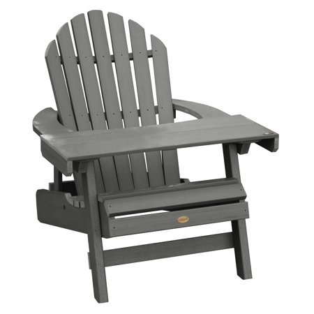 highwood® Hamilton Folding & Reclining Adirondack Chair/Laptop Table ()