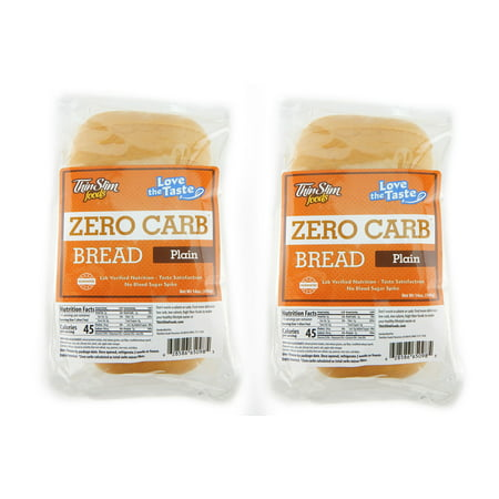 - ThinSlim Foods Love-the-Taste Low Carb Bread Plain, 2pack