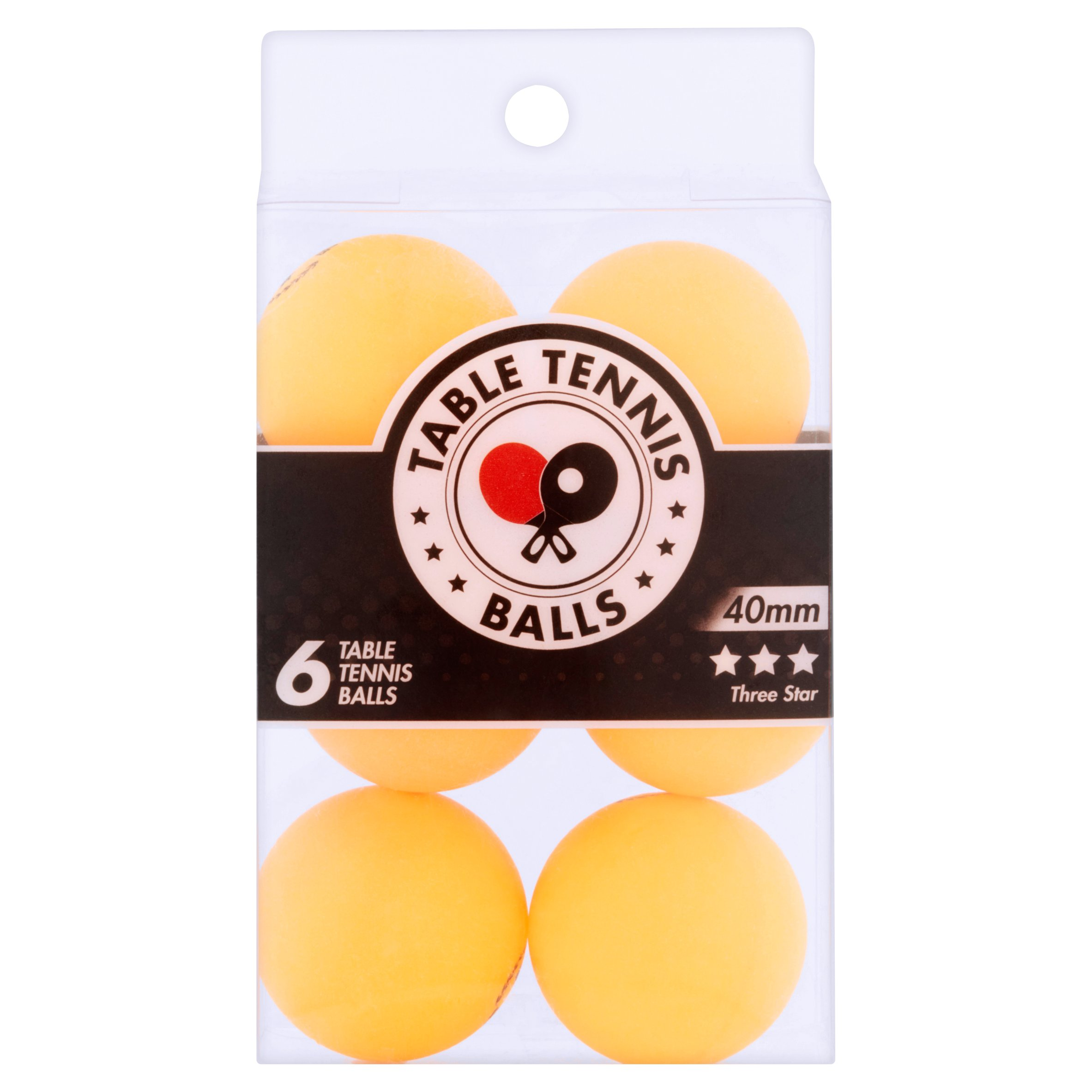 Table Tennis Balls, 6 count