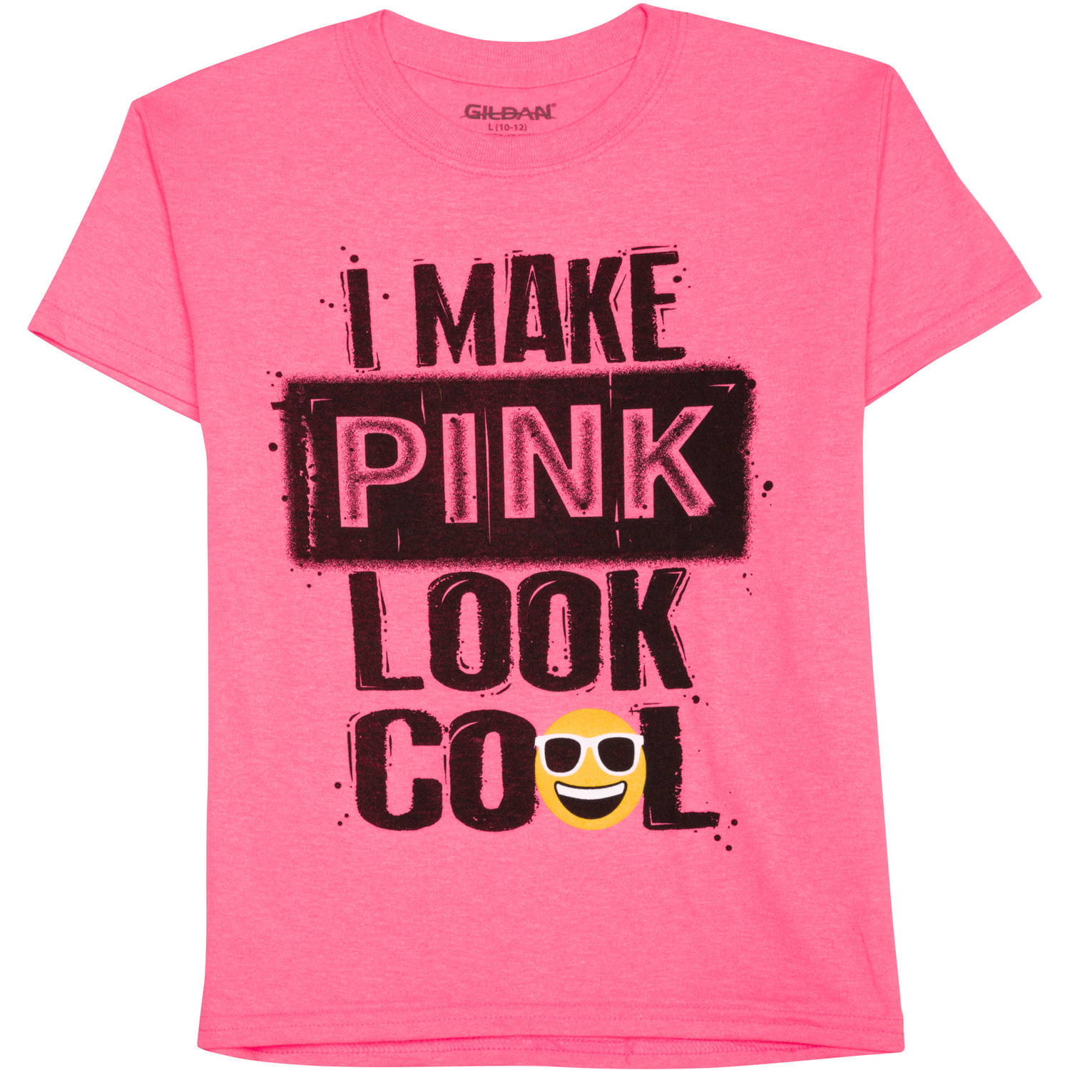 Boys' I Make Pink Look Cool Short Sleeve Graphic Crew T-Shirt