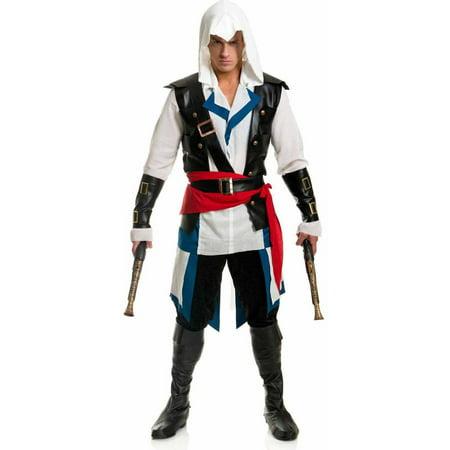 Halloween Costumes Skeleton Pirate (Cutthroat Assassin Pirate Men's Adult Halloween)
