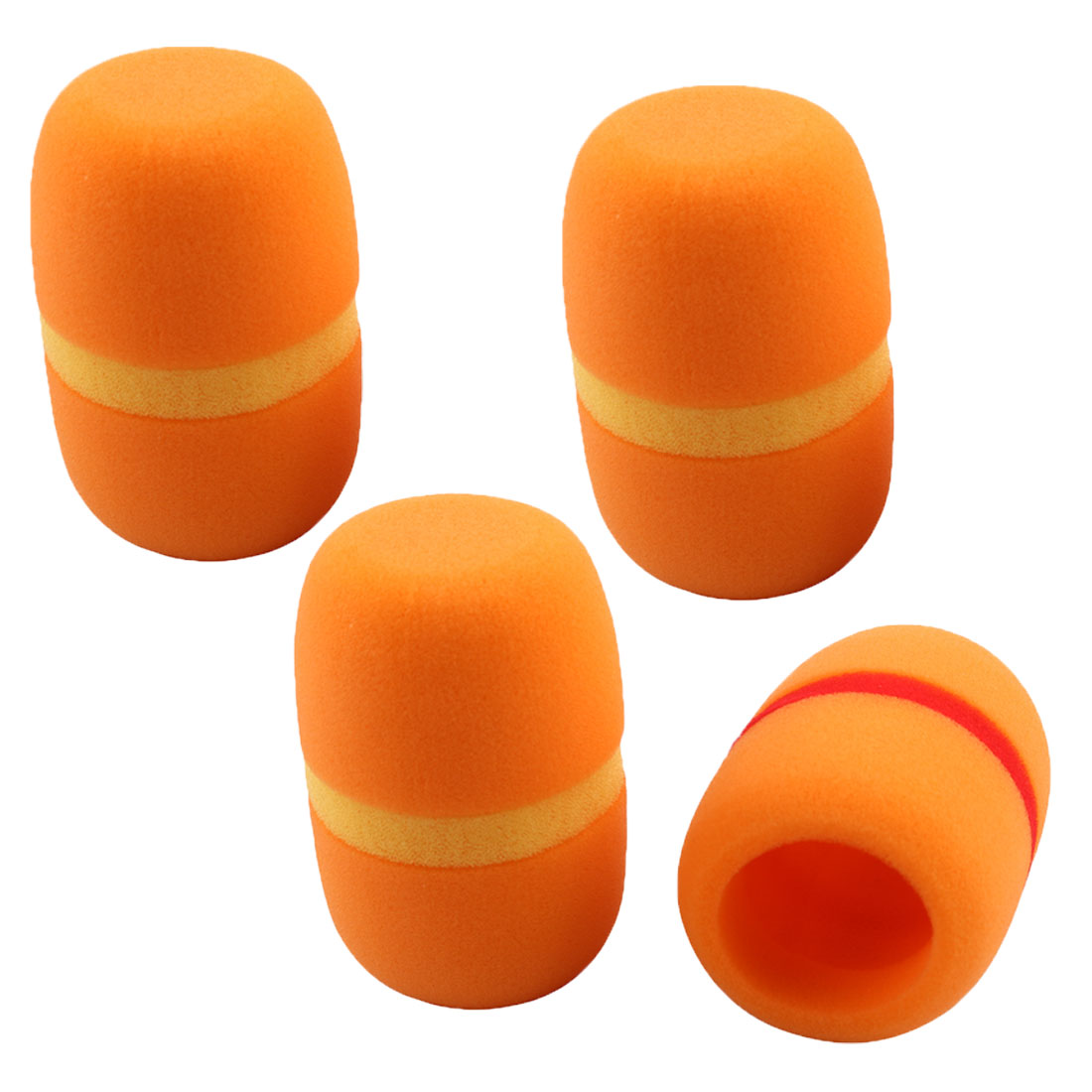 Interviews Conference Room Sponge Microphone Windscreen Mic Cover Orange 4pcs