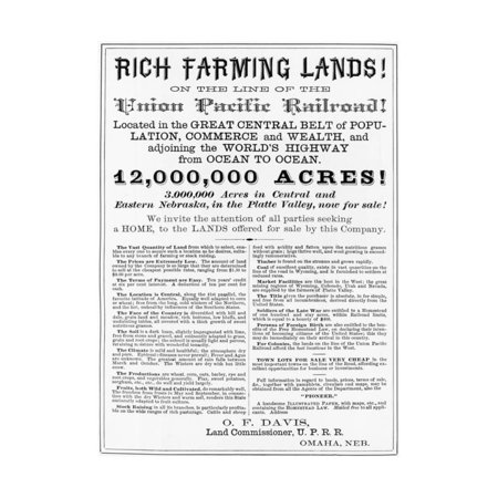 poster advertising land on union pacific print wall art - walmart