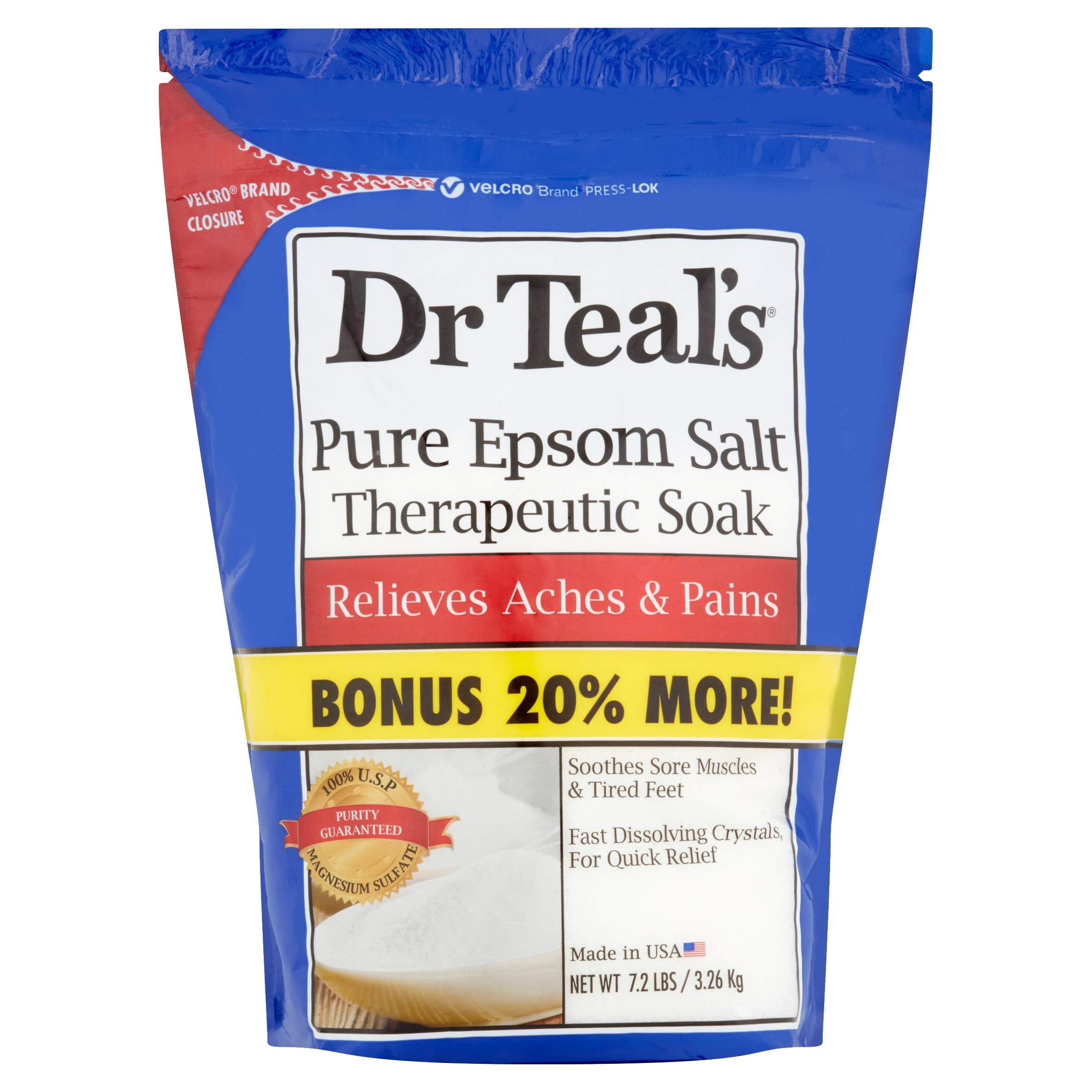 Dr. Teal's Pure Epsom Salt Therapeutic Soak, 7.2 lbs