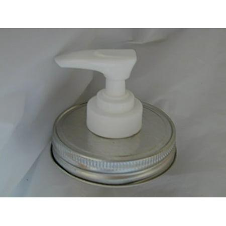 Mason Jar Lotion/Soap dispenser - Silver Lid w/White Pump Single Pack