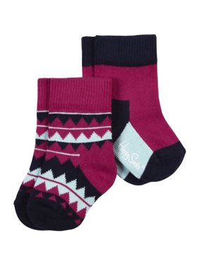 new style 4e199 ba723 Happy Socks Unisex Baby 2-pk Zig Zag Anklet