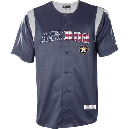 MLB Houston Astros Men's Americana Button Down Jersey