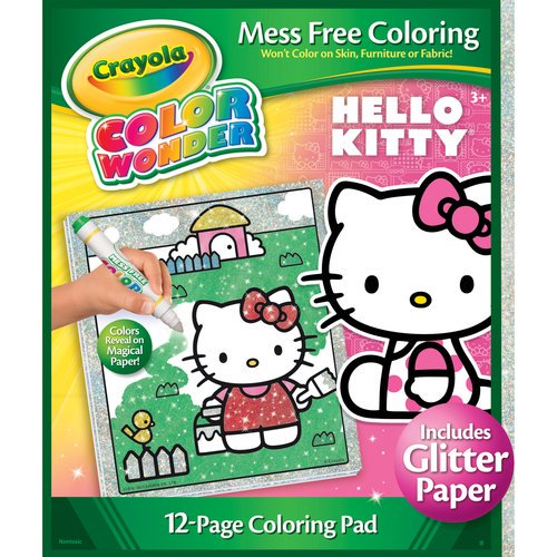 Crayola Color Wonder Glitter Coloring, Hello Kitty ...