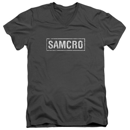 Trevco SONS OF ANARCHY SAMCRO Charcoal Adult Unisex V-Neck T-Shirt