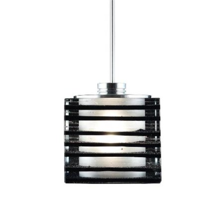Jesco Lighting QAP701-BK-SN 1 - Light Monorail Quick Adapt Low Voltage Pendant - Black - Satin Nickel - image 1 de 1