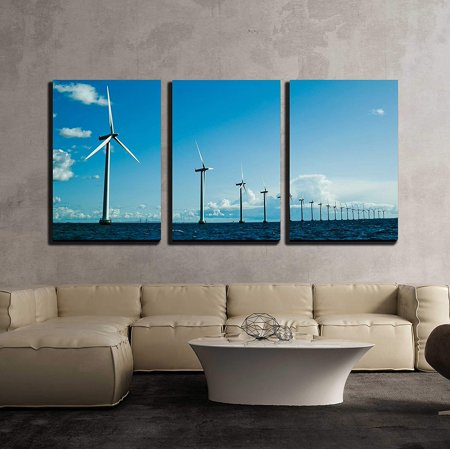 Wall26 3 Piece Canvas Wall Art Windmills In A Row Further