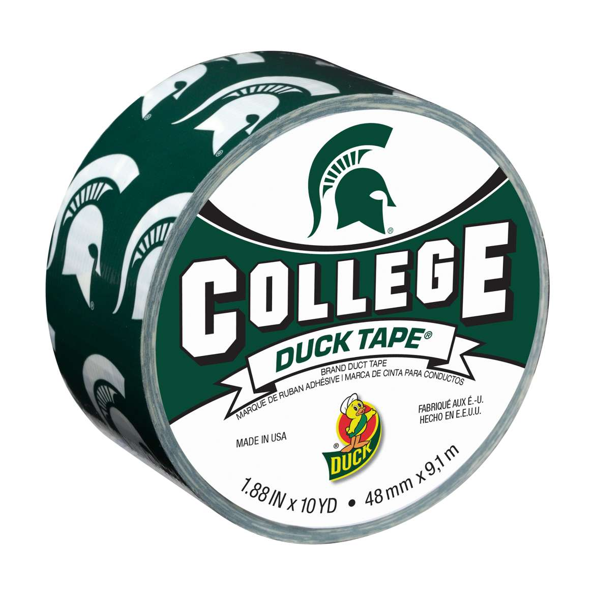 "Duck Brand Duct Tape, College Logo Duck Tape, 1.88"" x 10 yard, Michigan State Spartans"