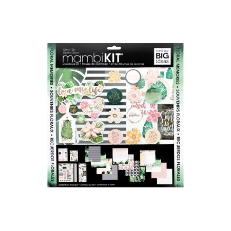MAMBI Scrapbook Kit 12x12 Floral - Design 12x12 Printed Scrapbook Paper