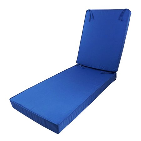 Cushion pros outdoor sunbrella chaise lounge cushion for Aqua chaise lounge cushions