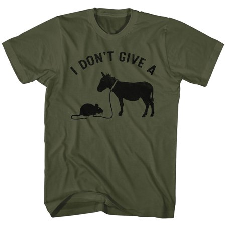 I Dont Give A Rats A   Funny Comical Joke Adult T Shirt Tee