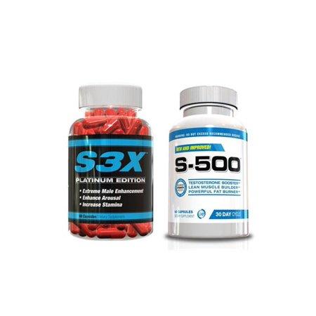 La testostérone Booster Platinum w / brûleur de graisse pour les hommes-S-500