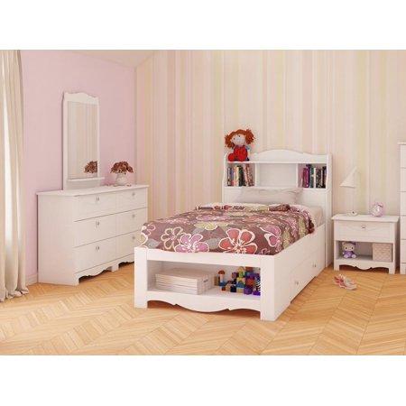 dixie bedroom set bundle finish matte white