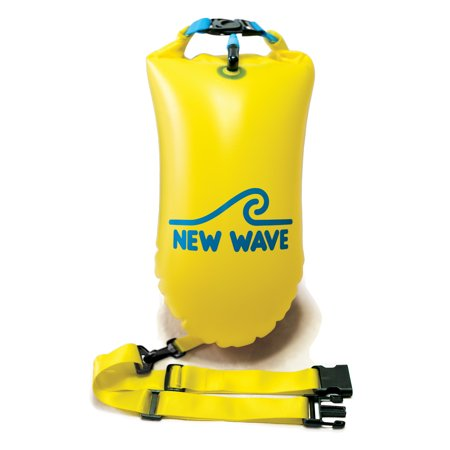 85eb9aeebac New Wave Open Water Swim Buoy - Medium (15 Liter) - PVC Yellow - Walmart.com