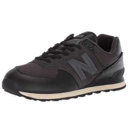 New Balance ML574LHF: Men's Iconic 574 Black/Black Sneaker (10.5 D(M) US