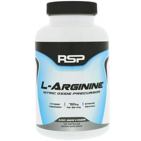 Nitric Oxide Nutrition (RSP Nutrition  L-Arginine  Nitric Oxide Precursor  750 mg  100)