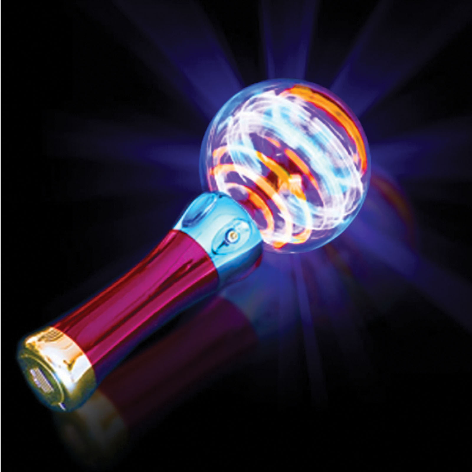 Rinco Patriotic Battery Powered Psychedelic Light Spinner LED Toy