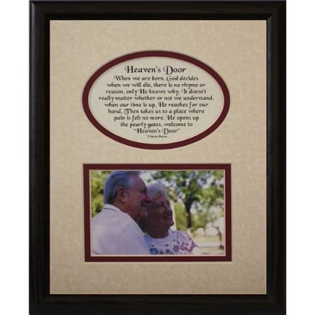 8X10 Heaven's Door Picture & Poetry Photo Gift Frame ~ Cream/Burgundy Mat With Black Frame * Memorial * Bereavement * Sympathy * Condolence Picture And Poetry Keepsake Gift Frame