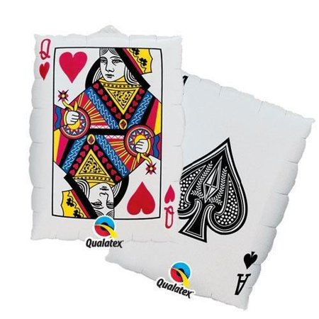 Casino Card Queen Of Hearts Foil Balloon 30 inch ( Each ) - Casino Invites