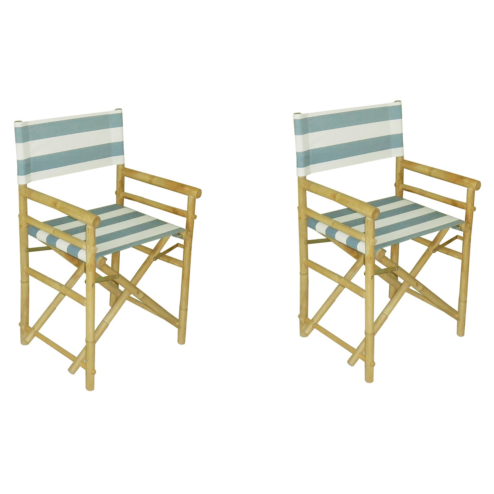 Phat Tommy Foldable Directors Chairs - Set of 2