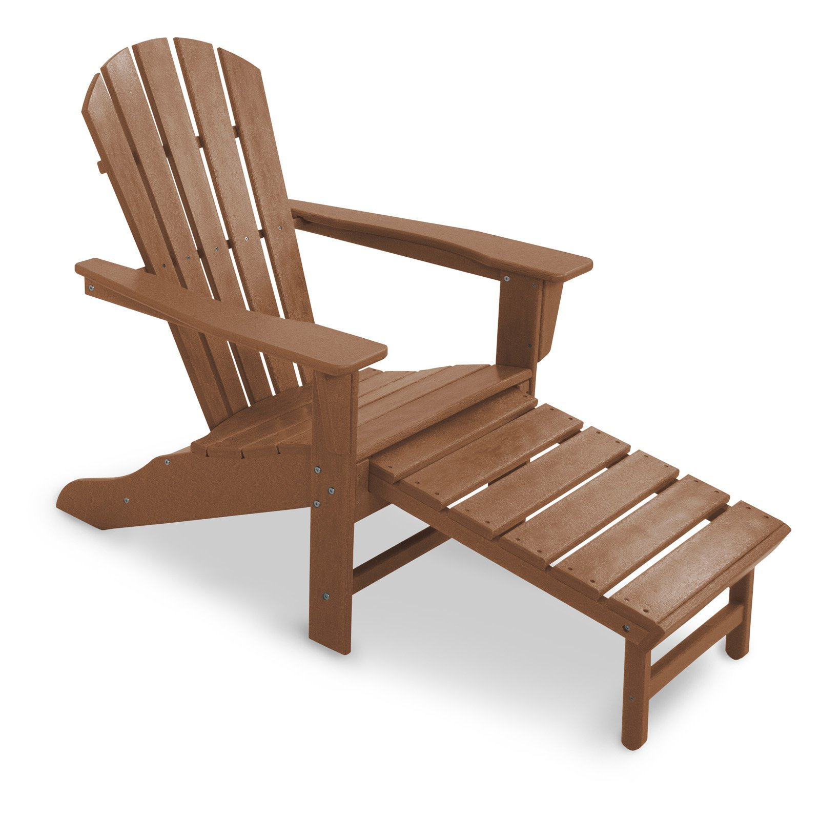 recycled plastic big daddy adirondack chair with pullout ottoman walmartcom - Polywood Adirondack Chairs