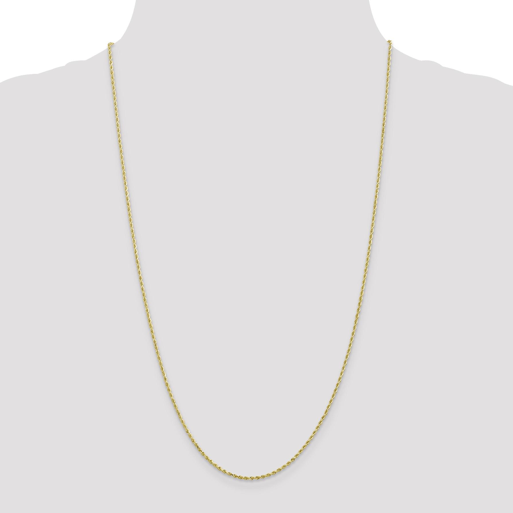 10K Yellow Gold 1.75mm Handmade Diamond Cut Rope Chain 30 Inch - image 3 de 5