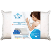 Water Pillow by Mediflow: Memory Foam re-invented with Waterbase Technology - Clinically proven to reduce neck pain & improve sleep quality. (Single Pack)