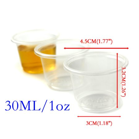 Disposable Plastic Loz Party Jelly Shot Glasses Cup Drinking Vodka Rum