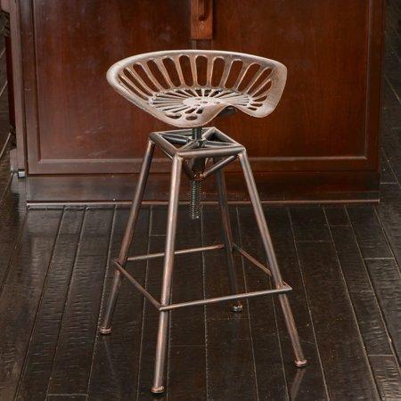 Iron Bar Stools (Faris Saddle Copper Iron Barstool )