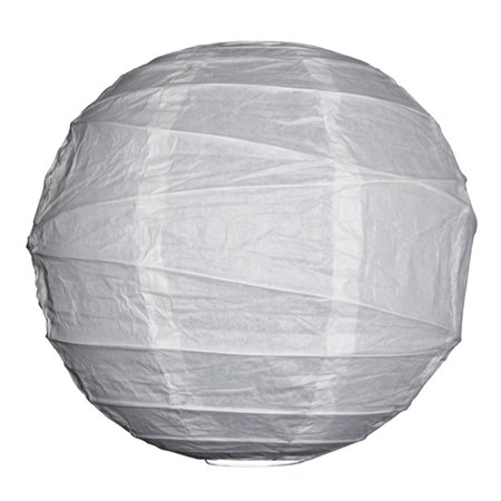 Asian Import Store Distribution 16 in. White Irregular Ribbing Paper - Sky Lanterns In Store