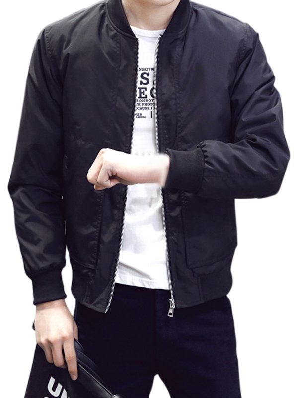 MENS BOYS BLACK JACKET SIZE S M BOMBER STYLE CLUB NIGHT OUT