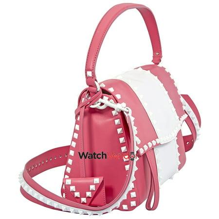Valentino Rockstud Shoulder Bag- Bright Pink - image 3 de 4