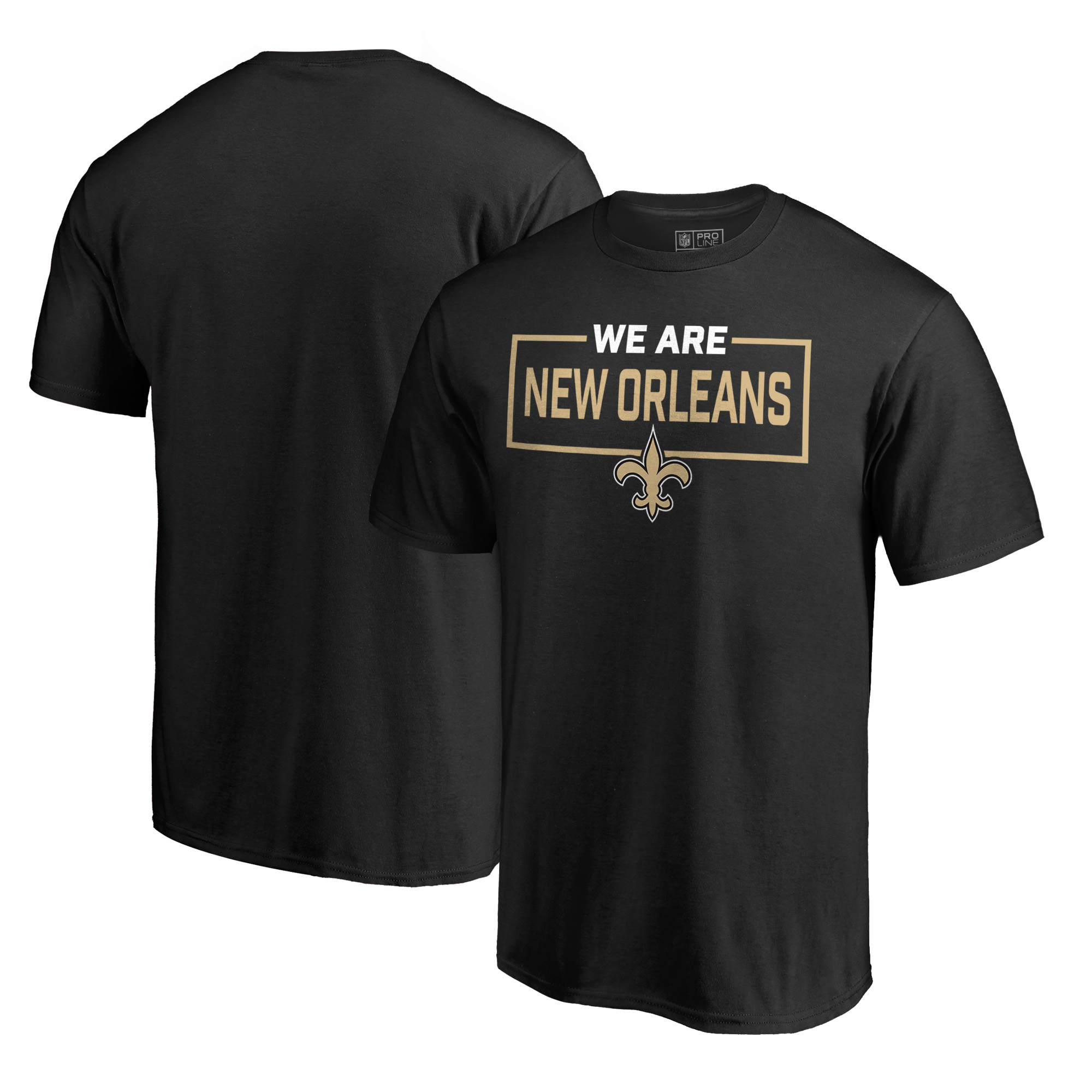 New Orleans Saints NFL Pro Line by Fanatics Branded We Are Icon T-Shirt - Black