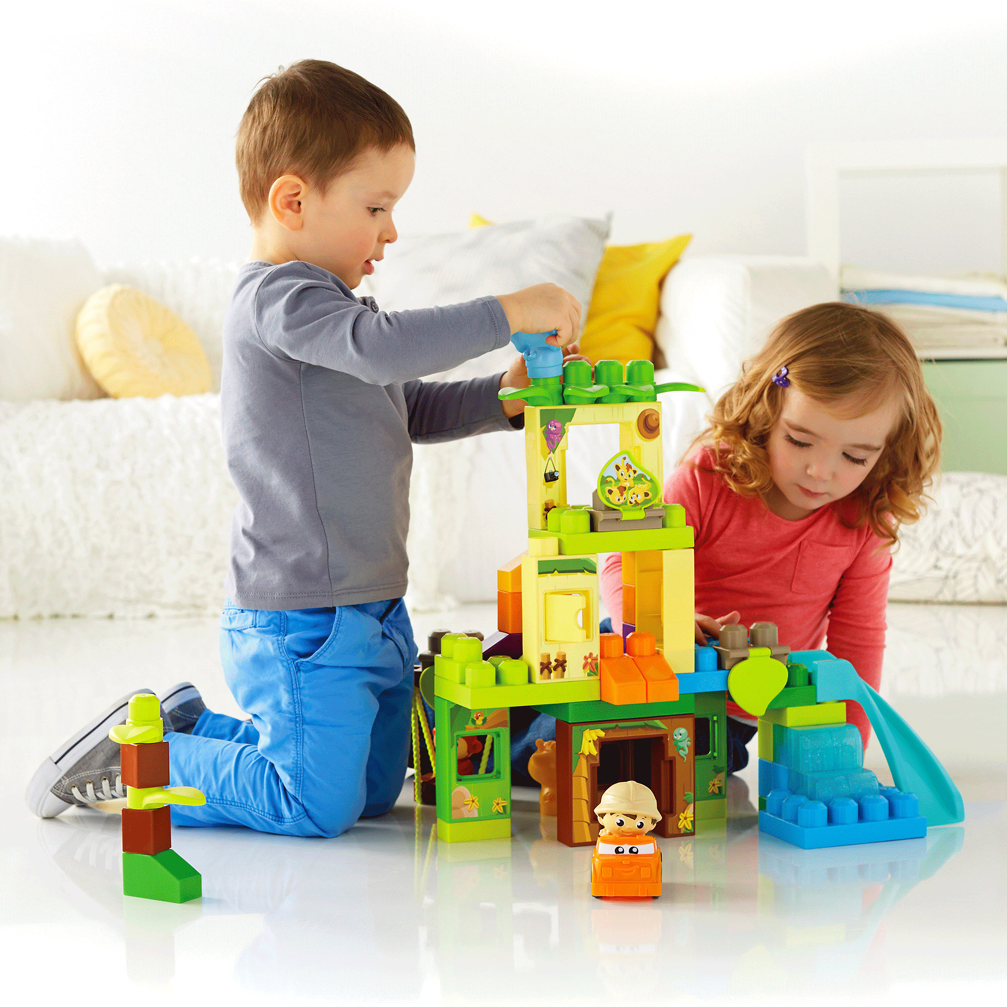 Mega Bloks First Builders Swing & Slide Safari Building Set