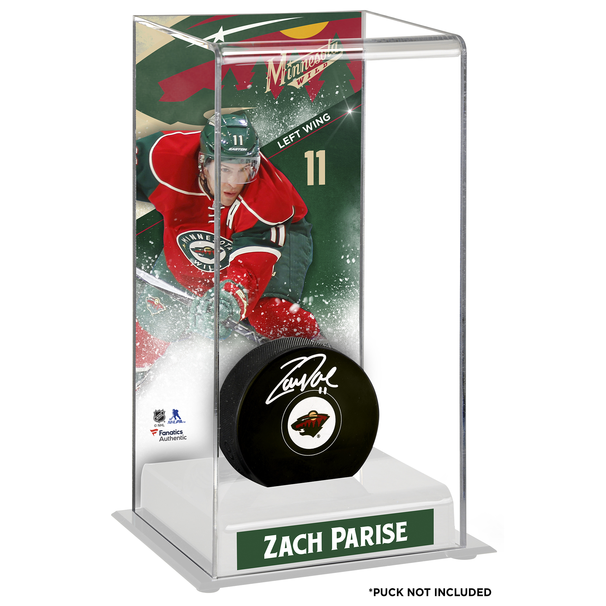 Zach Parise Minnesota Wild Deluxe Tall Hockey Puck Case