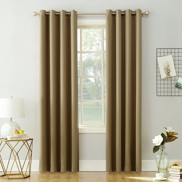 Sun Zero Nolan Energy Saving Blackout Grommet Curtain